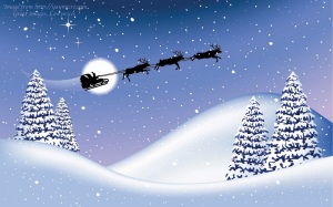 14-Christmas-wallpapers-free-santa-claus-and-reendiers-flying-wallpaper